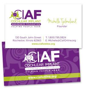 picture of business cards for CIAF