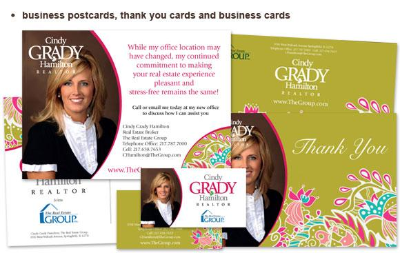 Business card design for Cindy Grady Hamilton
